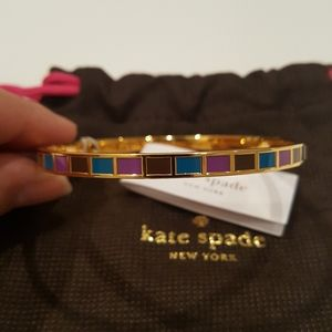 Kate Spade 12k Gold Plate Hit Your Stride Bangle